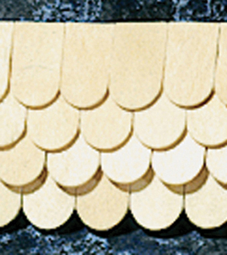 "Dollhouse Miniature 1/2"" Scale: Fishscale Shingles, 400/Bag"