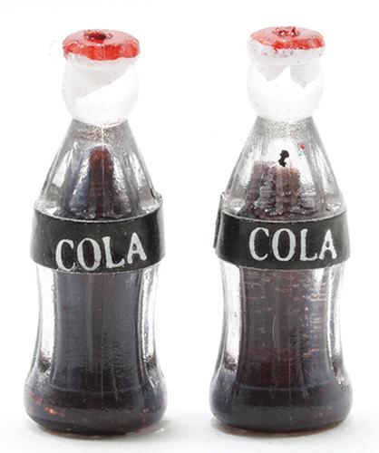 Dollhouse Miniature Set of 2 Soda Pop Bottles