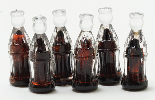 Dollhouse Miniature Soda Bottles, 6/Pk