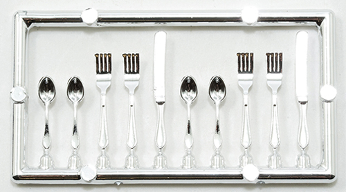 Dollhouse Miniature Table Setting Silverware 20Pc