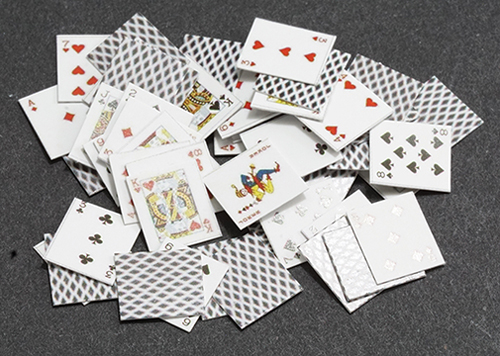 Dollhouse Miniature Playing Cards