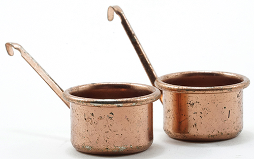 Dollhouse Miniature Copper Pots