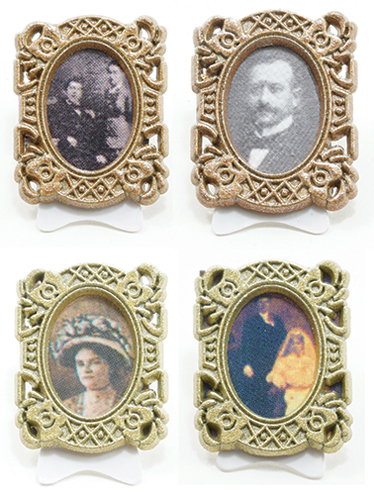 Dollhouse Miniature Decor Picture Frame, Assorted Pics