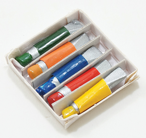 Dollhouse Miniature Paint Tubes