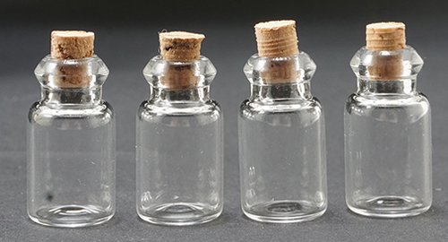 Dollhouse Miniature Empty Jars, 4Pk
