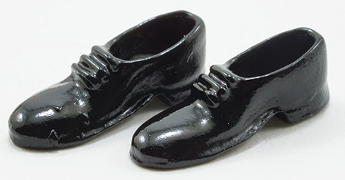 Dollhouse Miniature Men/'s Dress Shoes in Black