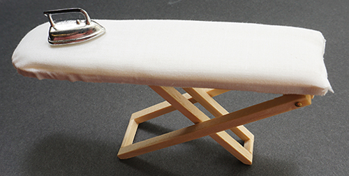 Dollhouse Miniature Ironing Board W/Iron