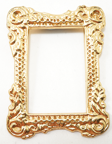 Dollhouse Miniature Gold Tone Picture Frame