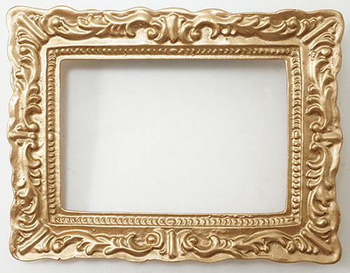 Dollhouse Miniature Antique Gold Frame