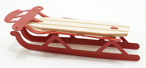 Dollhouse Miniature Red Flyer Sled