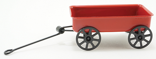 Dollhouse Miniature Large Red Wagon