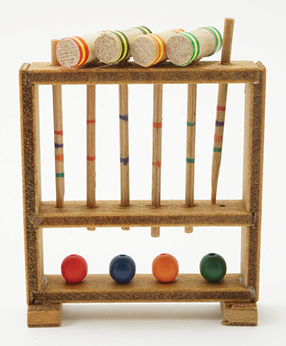 Dollhouse Miniature Croquet Set