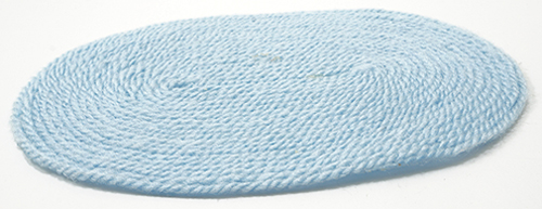 Dollhouse Miniature Baby Blue Rug, Large