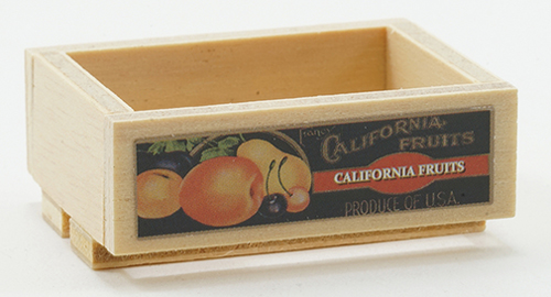 Dollhouse Miniature Empty Fruit Crate