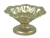 Dollhouse Miniature Fruit Bowl On Stand Gold