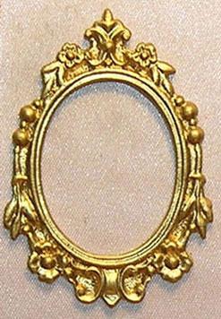 Dollhouse Miniature Gold Ornate Frame