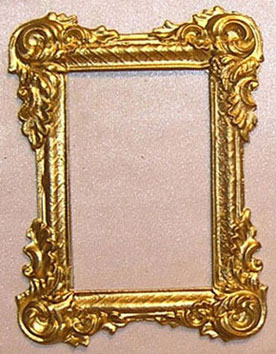 Dollhouse Miniature Picture Frame Large Victorian Rectangle Gold Color