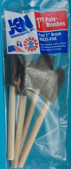 Dollhouse Miniature 1 In Sponge Brush, 4/Pk