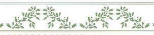 Dollhouse Miniature Border: Acorns, Green On White