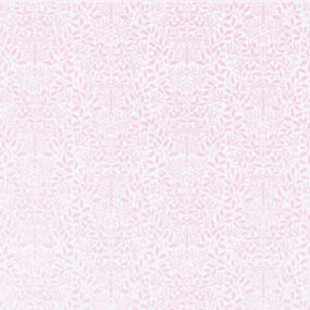 Dollhouse Miniature Wallpaper: Acorns, Pink On White