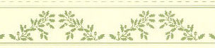 Dollhouse Miniature Border: Acorns, Green On Cream
