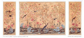 Dollhouse Miniature Wallpaper: Chinoiserie Panels