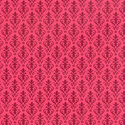 Dollhouse Miniature Wallpaper: Victorian, Red On Red