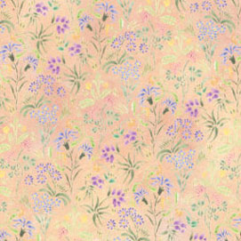 Dollhouse Miniature Wallpaper: Meadow Flowers