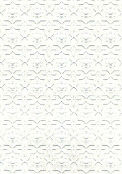 "Dollhouse Miniature Wallpaper:1/2"" Scale Embossed Dado, White"