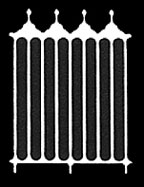 Dollhouse Miniature Gate: Victorian, 2-1/4 Inch Wide