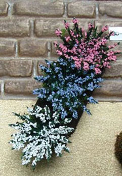 Dollhouse Miniature Garden Delights 2Ea Pink/Blue/White