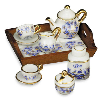 Dollhouse Miniature Afternoon Tea-Time Tray