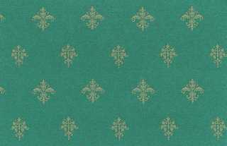 Dollhouse Miniature Wallpaper, Majestic, Emerald