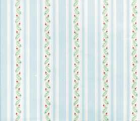 Dollhouse Miniature Wallpaper, Country Side, Blue