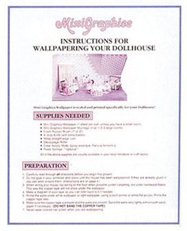 Dollhouse Instruction Guide For Wallpapering Your Dollhouse