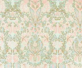 Dollhouse Miniature Wallpaper, Bonjour, Seafoam