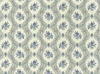 Dollhouse Miniature Wallpaper, Ogee Lace, Blue