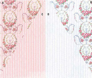 Dollhouse Miniature Wallpaper, Ogden's Floral, Pink