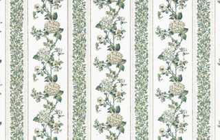 Dollhouse Miniature Wallpaper, Kismet Stripe (White)