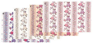 Dollhouse Miniature Wallpaper, Kismet Stripe (Pink)