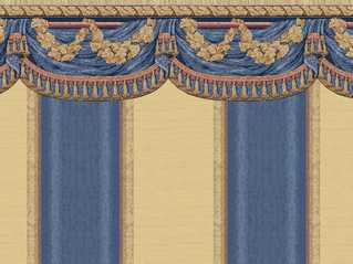 Dollhouse Miniature Wallpaper Tara, Blue