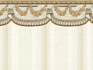 Dollhouse Miniature Wallpaper Tara, White