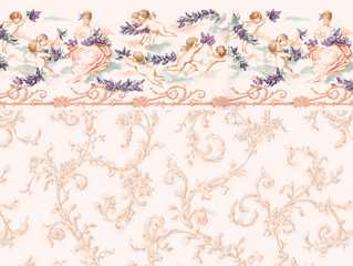 Dollhouse Miniature Wallpaper, Symphony, Pink