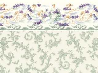 Dollhouse Miniature Wallpaper, Symphony, Seafoam