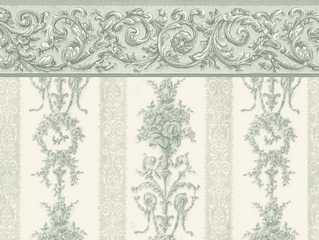 Dollhouse Miniature Wallpaper, Symphony Stripe, Seafoam