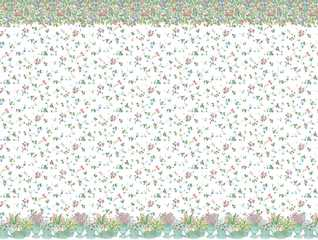 Dollhouse Miniature Wallpaper, Spring Palette, Pastel