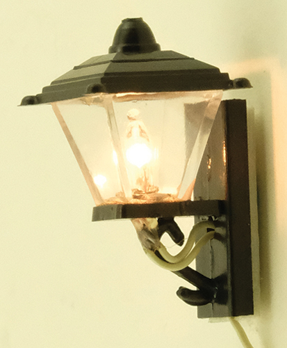Dollhouse Miniature Black Coach Lamp