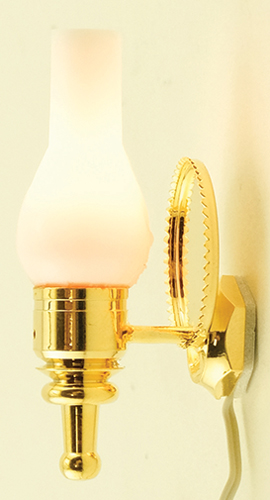 Dollhouse Miniature Wall Sconce, Back plate Reflector