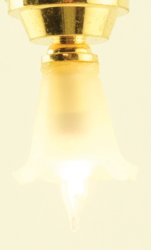 Dollhouse Miniature Ceiling Lamp, Small Tulip