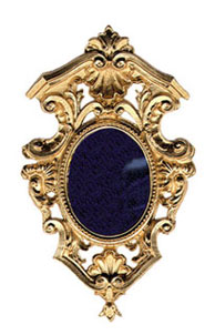 Dollhouse Miniature Gold Framed Mirror